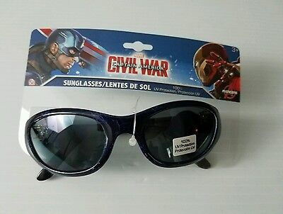 Boys Marvel Avengers Ironman Captain America Civil War Sunglasses - NIP