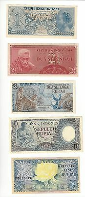 Indonesia Lot Of 9 Notes  See Scans 1956-1964  All  Nice Unc