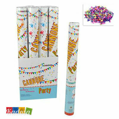 Set 12 Cannoni 50 cm Spara CORIANDOLI Colorati PARTY - Matrimonio Carnevale Tubo