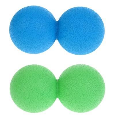 MagiDeal 2Pcs Double Lacrosse Massage Ball Myofascial Trigger Point Release