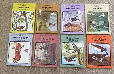8 x Read About It Series Books 1970s Birds - Gregory