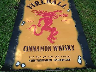 FIREBALL CINNAMON WHISKEY RUG / FLOOR MAT - Brand New NEAT! 5 X 7 FOOT!