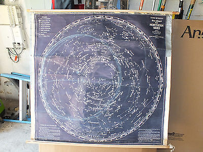 Vintage Rand McNally Star Chart for Northern Skies, Dr Oliver Justin Lee 1950's