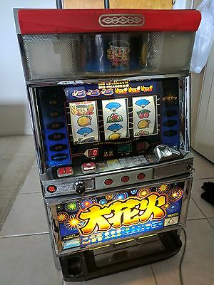 Hanabi Pachislo SLOT MACHINE JAPANESE Aruze Fireworks Lights with tokens works