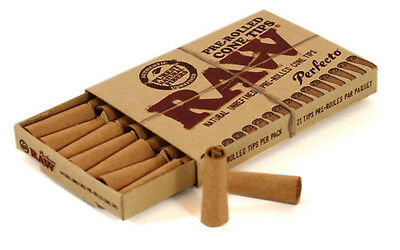 RAW Classic Pre Rolled Tips Cigarette Smoking Natural Rolling Paper Cone Tip UK