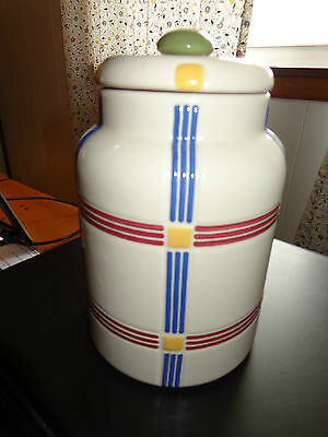 Longaberger Canister Multi Color Classic Plaid Used