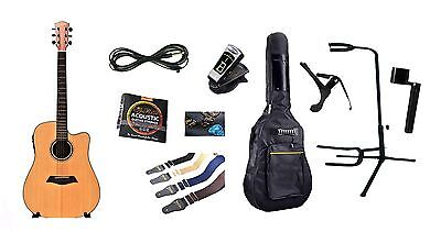 Solid Top Spruce Acoustic Electric Guitar iMusic234 with Full Package