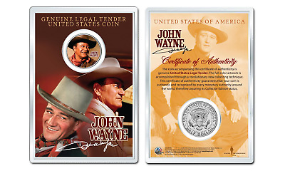 JOHN WAYNE - Chisum OFFICIAL JFK Half Dollar U.S. Coin in PREMIUM HOLDER