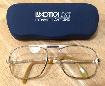 vintage luxOttica agordo G 52-18 Heavy Gold Electroplated Aviator Glasses