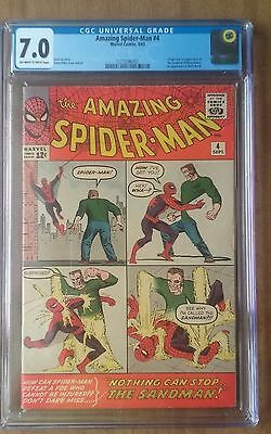 Amazing Spider-Man #4 CGC 7.0 (FN/VF) 1st App of the Sandman!!!