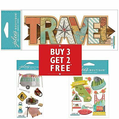 Buy 3 Get 2 FREE Jolee's Boutique Sticko Stickers 3D Travel Vacation