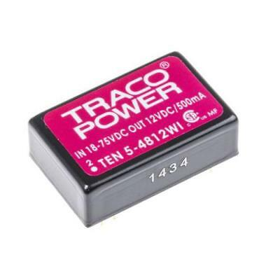 1 x Tracopower 6W Isolated DC-DC Converter TEN 5-4812WI, Vin 18-75V dc