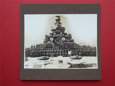 Original Royal Navy Gelatin Silver Print Photo Of The Crew Of Rms Repulse.