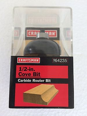 "10 PC LOT CRAFTSMAN 1//2/"" COVE CARBIDE TIPPED ROUTER BIT 64235 9-64235 BOSCH"