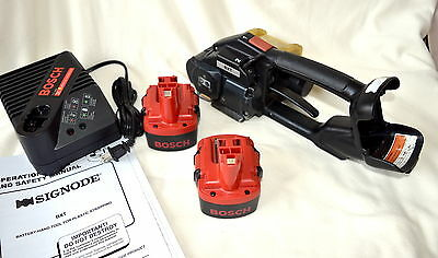 Signode BXT Battery Operated Strapping Banding Tool & Charger w/2 BATTERIES