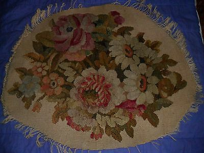 Aubusson Antique Authentic French Tapestry.hand Made.flowers.c1870.