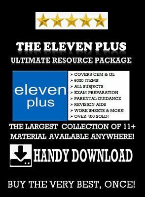 11 + Eleven Plus + 5300 Exam Test Papers All Subjects Cem Gl Bond Download Link*