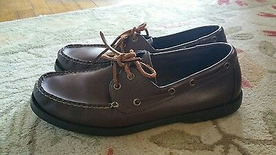 Ralph Lauren POLO SPORT Brown Loafers Boat Shoes Lace Up Casual Mens size 12 D
