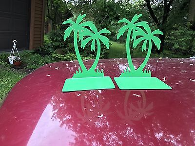 Mid Century Modern Palm Trees Bookends Moxie by Randall Schwartz 1976