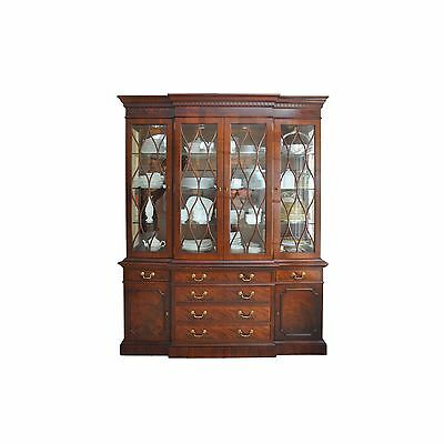 A Baker Furniture Breakfront China Cabinet