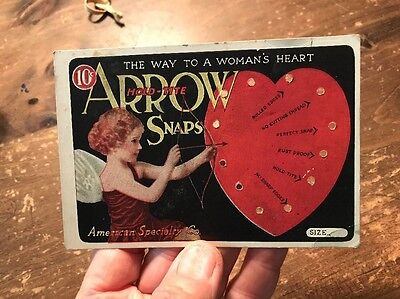 Arrow Shirt Advertising Card for Arrow Snaps Valentines Day Cupid Motif