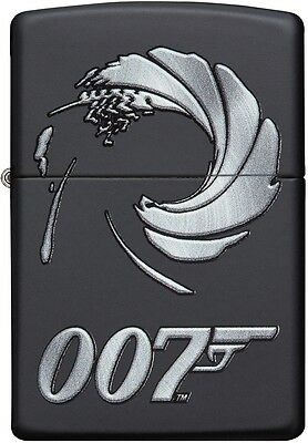 Zippo Choice James Bond 007 Collection WindProof Lighter Black Matte 29566 NEW