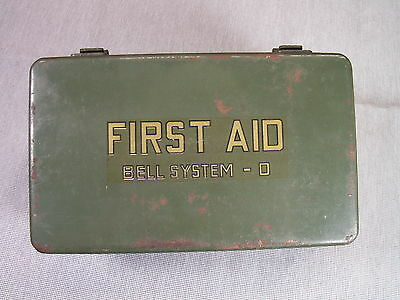Bell System-D First Aid Kit, 1960s NICE CONDITION
