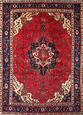 "CLEARANCE Stunning Floral 9x13 Tabriz Persian Area Oriental Rug 12' 9"" x 9' 2"""