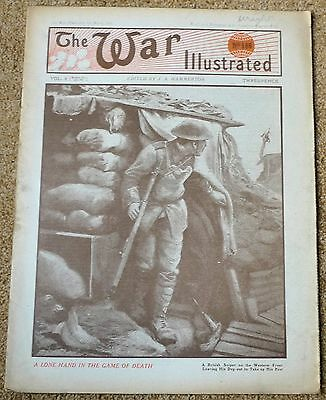 THE WAR ILLUSTRATED WW1 9th March 1918 Vol 8 No:186