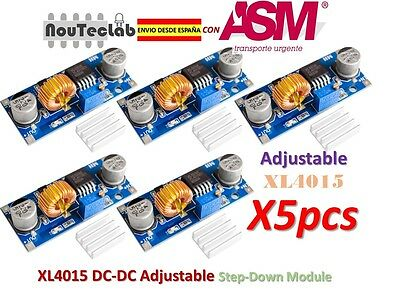 5pcs XL4015 DC-DC Step Down Adjustable Power Module 5A LED Lithium Charger
