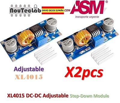 2pcs XL4015 DC-DC Step Down Adjustable Power Module 5A LED Lithium Charger