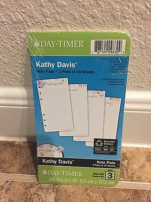Day-Timer Planner Note Refill Pages Kathy Davis Floral 2 Pads 24 Sheets Size 3