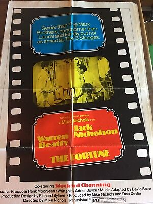 "Original 1970s ""the Fortune ""1 Sheet Style C Movie Poster 27""x 41""jack Nicholson"
