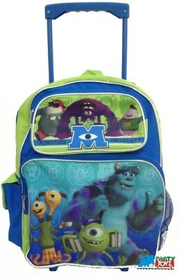 "Monsters University Mike Sully Large 16"" Rolling Backpack Wheels"