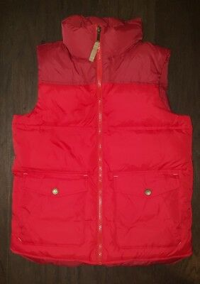 Lands' End Kids Boy's Red Down Vest NEARLY NEW M 10 12 Fall Back to School