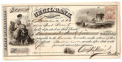 1863 Cecil Bank, Port Deposit, Maryland Check for $195 [3062.83]