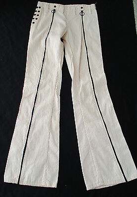 Mens Vintage 1970's Full Zippered Legs Bell Bottoms Pants Rock Star  31
