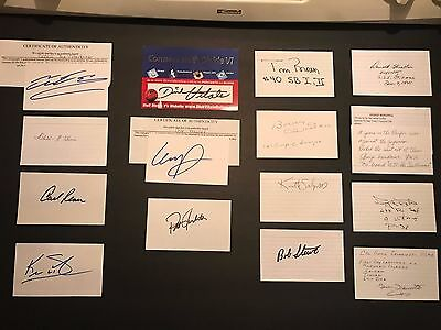 Lot of 15 Signed Autographs: Celebrities, Sports, Military Autographed