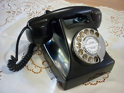 Vintage Retro 1000 Series Black Bakelite Phone Exc Condition Fully Operational