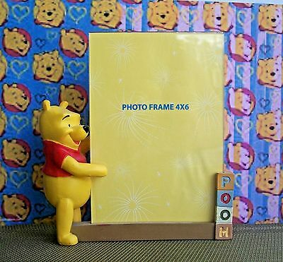 DISNEY & Winnie the Pooh Picture Frame, Holds 4 x 6 Photo