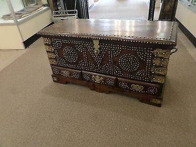 Anglo-Indian Blanket Chest, circa 1840-60