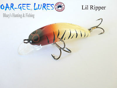 Oar-gee Lil Ripper 4cm 3.4g Bream, trout, Bass freshwater fishing lure; col CR