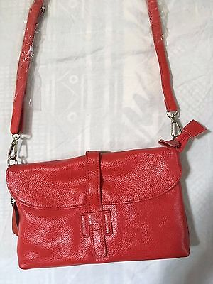 Ladies leather clutch / cross body bag