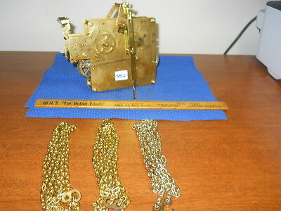 '88 HERMLE 451-033AH/114cm WESTMINSTER CHIME CHAIN MOVEMENT  w/CHAINS