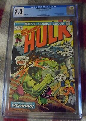 THE INCREDIBLE HULK #180 CGC 7.0 (Oct 1974, Marvel) 1st Wolverine NOT 181 FN/VF