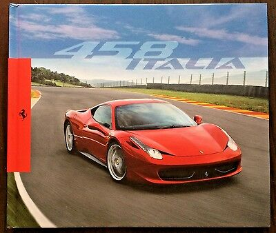 Ferrari 458 Italia - Sales Brochure 2009 Hardcover Sports Car Advertising Book