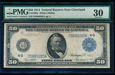 AC Fr 1039a 1914 $50 FRN Cleveland PMG 30 comment