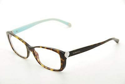 New Authentic Tiffany & Co TF 2090-H 8015 Havana/Blue 54mm Eyeglasses Italy RX