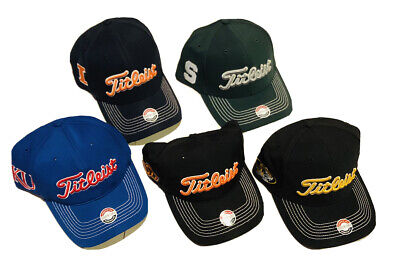 Titleist Collegiate Stretch Fit Golf Hat.....Select Team & Size...FREE SHIPPING!