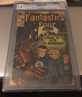 Fantastic Four 45 CGC 1.0 1st Appearance Of The Inhumans